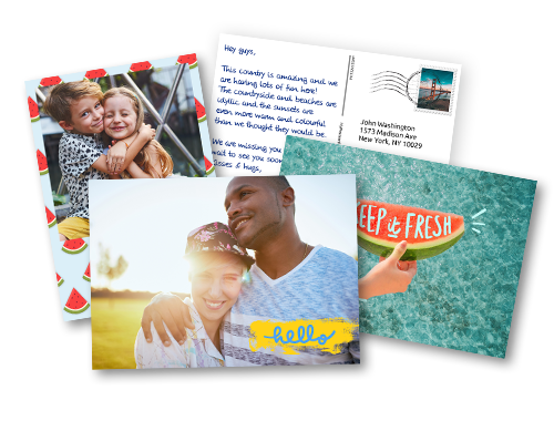 send your photo postcards printed and mailed internationally online
